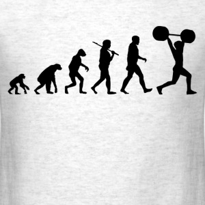 Funny Gym Shirt - Evolution of weightlifting - Men's T-Shirt