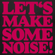 Design ~ Let's make some noise DJ T-Shirt (Black/Red)