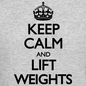 Keep Calm and Lift Weights LolClothing Long Sleeve Shirts - Crewneck Sweatshirt