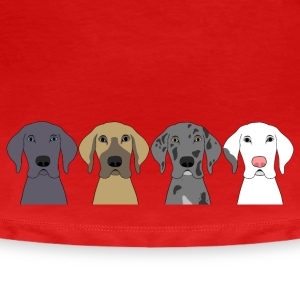 Four Great Dane Heads Women's T-Shirts - Women's Premium T-Shirt