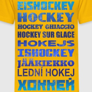 Hockey in Different Languages Baby & Toddler Shirts - Toddler Premium T-Shirt
