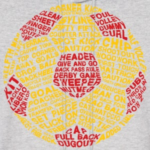 Soccer Ball Typography Hoodies - Men's Hoodie