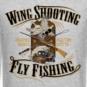 wingshooting_fly_fishing Long Sleeve Shirts - Crewneck Sweatshirt