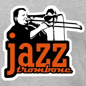 jazz trombone (3 color) T-Shirts - Men's T-Shirt by American Apparel