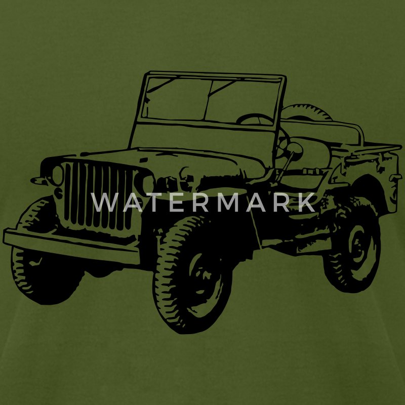 Willys Jeep (1 color) T-Shirts - Men's T-Shirt by American Apparel
