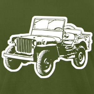 Willys Jeep (diff. color) T-Shirts - Men's T-Shirt by American Apparel