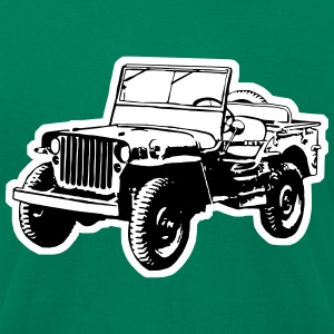 Willys Jeep (2 color) T-Shirts - Men's T-Shirt by American Apparel