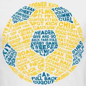 Soccer Ball Typography Long Sleeve Shirts - Men's Long Sleeve T-Shirt by Next Level