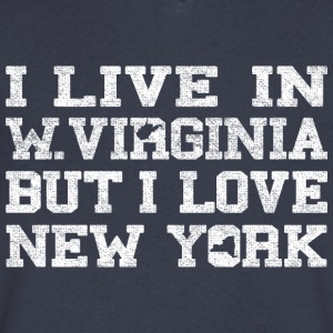 Live West Virginia Love New York T-Shirts - Men's V-Neck T-Shirt by Canvas
