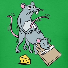 Mouse Screwing a Mouse in a Mousetrap  T-Shirts