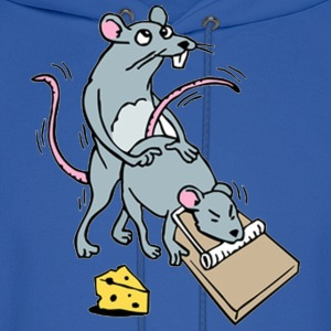 Mouse Screwing a Mouse in a Mousetrap  Hoodies - Men's Hoodie