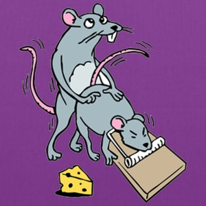 Mouse Screwing a Mouse in a Mousetrap  Bags & backpacks - Tote Bag