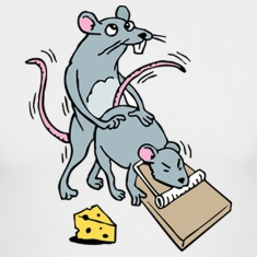 Mouse Screwing a Mouse in a Mousetrap  Long Sleeve Shirts
