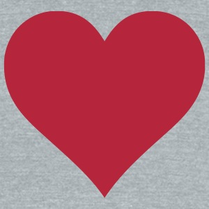 Plain Heart T-Shirts - Unisex Tri-Blend T-Shirt by American Apparel