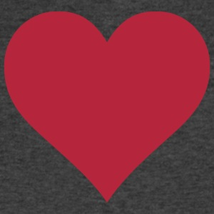 Plain Heart T-Shirts - Men's V-Neck T-Shirt by Canvas