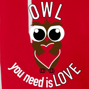 OWL you need is love Zip Hoodies & Jackets - Unisex Fleece Zip Hoodie by American Apparel