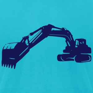 excavator (1 color) T-Shirts - Men's T-Shirt by American Apparel