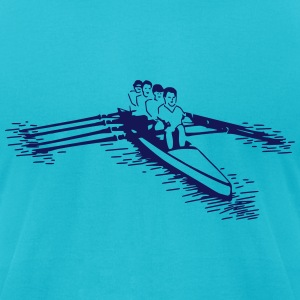 rowing boat (1 color) T-Shirts - Men's T-Shirt by American Apparel