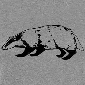 badger (1 color) Women's T-Shirts - Women's Premium T-Shirt