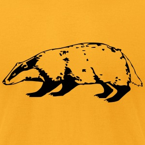 badger (1 color) T-Shirts - Men's T-Shirt by American Apparel