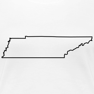 Tennessee,map,landmap,land,country,outline Women's T-Shirts - Women's Premium T-Shirt