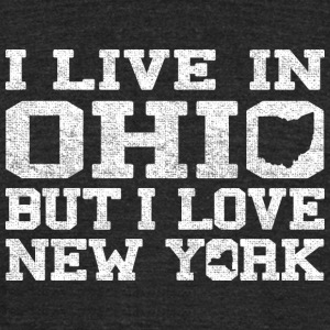 Live Ohio Love New York T-Shirts - Unisex Tri-Blend T-Shirt by American Apparel