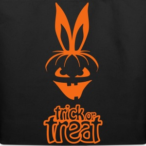 pumpkin rabbit trick or treat hare halloween bunny Bags & backpacks - Eco-Friendly Cotton Tote
