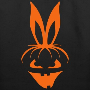 pumpkin bunny rabbit ears halloween hare scary  Bags & backpacks - Eco-Friendly Cotton Tote