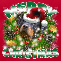 Merry Christmas Rockweiler T-Shirts