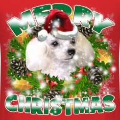 Merry Christmas Poodle T-Shirts