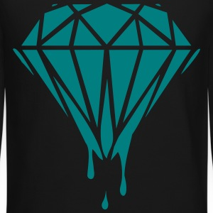 dripping diamond Long Sleeve Shirts - Crewneck Sweatshirt