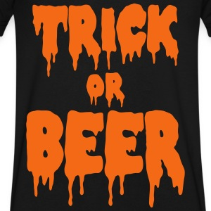 trick or beer T-Shirts - Men's V-Neck T-Shirt by Canvas