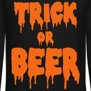 trick or beer Long Sleeve Shirts - Crewneck Sweatshirt