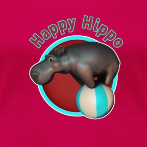 Happy Hippo Tumbler - Women's Premium T-Shirt