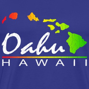 Oahu Hawaii (Distressed Vintage Look) - Men's Premium T-Shirt