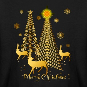 Gold Christmas Trees and Reindeer - Kids' Long Sleeve T-Shirt