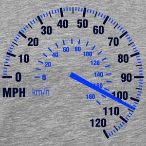 Speed - MPH - Racing - Speedometer T-Shirts - Men's Premium T-Shirt