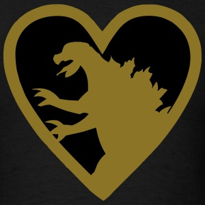 Godzilla Heart T-Shirts - Men's T-Shirt