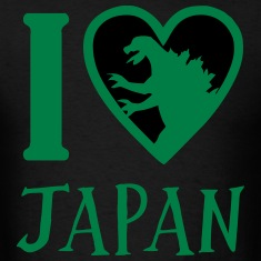 Godzilla Heart Japan T-Shirts