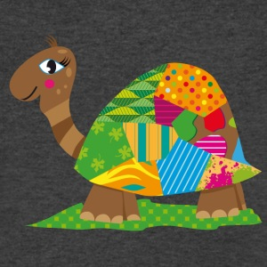 A patchwork turtle T-Shirts - Men's V-Neck T-Shirt by Canvas