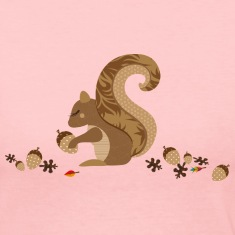 A squirrel with an acorn Long Sleeve Shirts