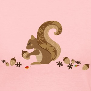 A squirrel with an acorn Long Sleeve Shirts - Women's Long Sleeve Jersey T-Shirt