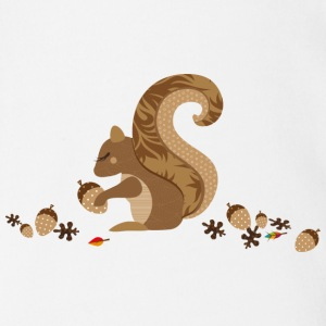 A squirrel with an acorn Baby & Toddler Shirts - Short Sleeve Baby Bodysuit