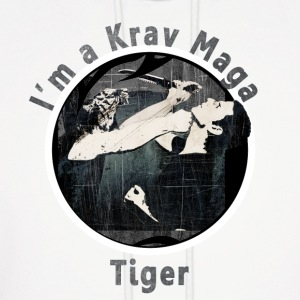 Krav Maga Tiger in Black - Men's Hoodie