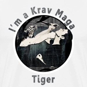 Krav Maga Tiger in Black - Men's Premium T-Shirt