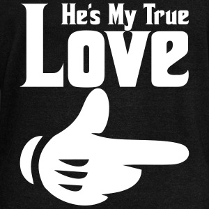 he's my true love Long Sleeve Shirts - Women's Wideneck Sweatshirt
