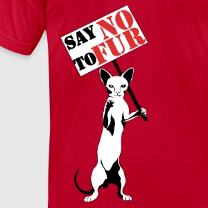 Say NO to Fur - Men's T-Shirt by American Apparel