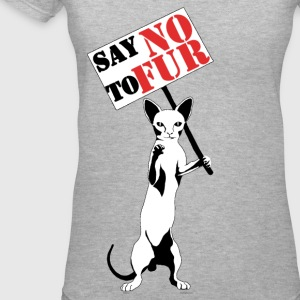 Say NO to Fur - Women's V-Neck T-Shirt