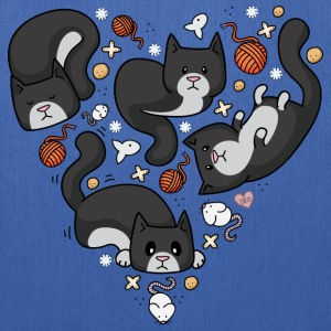 Kitty Heart - Tuxedo Bags & backpacks - Tote Bag