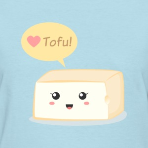 love tofu, cute food doodle Women's T-Shirts - Women's T-Shirt
